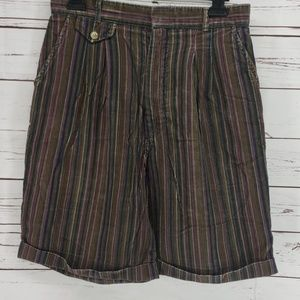 Carrie Beene vintage striped 13/14 corduroy shorts